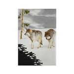 Wolves in Snow Rectangle Magnet (100 pack)
