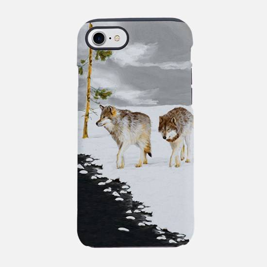 Wolves in Snow iPhone 7 Tough Case