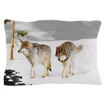 Wolves in Snow Pillow Case