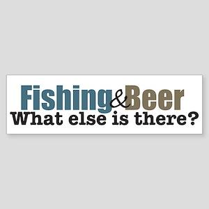 Fishing & Beer Bumper Sticker