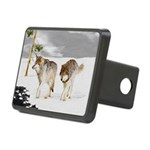 Wolves in Snow Rectangular Hitch Cover