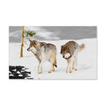 Wolves in Snow 20x12 Wall Decal