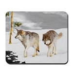 Wolves in Snow Mousepad