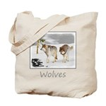 Wolves in Snow Tote Bag