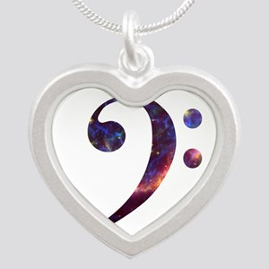 Bass clef nebula 1 Necklaces