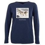Wolves in Snow Plus Size Long Sleeve Tee