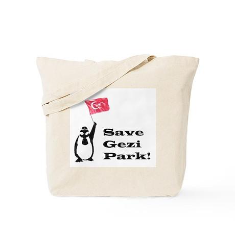 Gezi Park Penguin Tote Bag