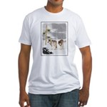 Wolves in Snow Fitted T-Shirt