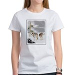 Wolves in Snow Women's Classic White T-Shirt
