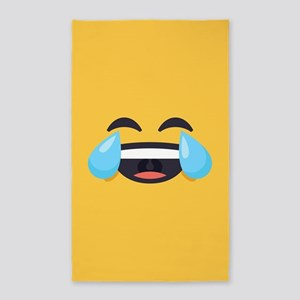 Cry Laughing Emoji Face Area Rug
