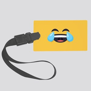 Cry Laughing Emoji Face Large Luggage Tag
