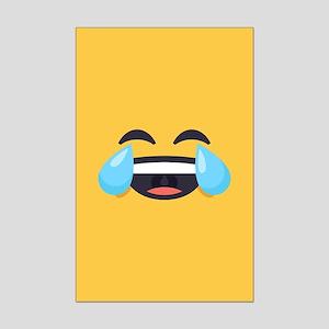 Cry Laughing Emoji Face Mini Poster Print
