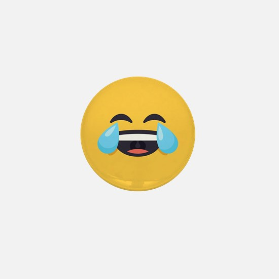 Cry Laughing Emoji Face Mini Button