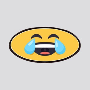 Cry Laughing Emoji Face Patch