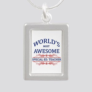 World's Most Awesome Special Ed. Teacher Silver Po