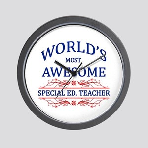 World's Most Awesome Special Ed. Teacher Wall Cloc