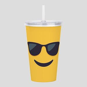 Sunglasses Emoji Face Acrylic Double-wall Tumbler