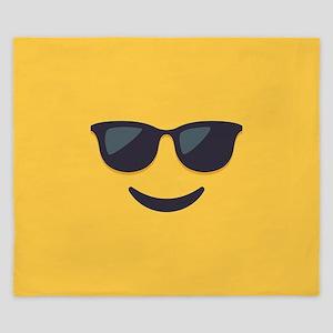 Sunglasses Emoji Face King Duvet