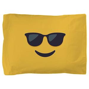 Sunglasses Emoji Face Pillow Sham