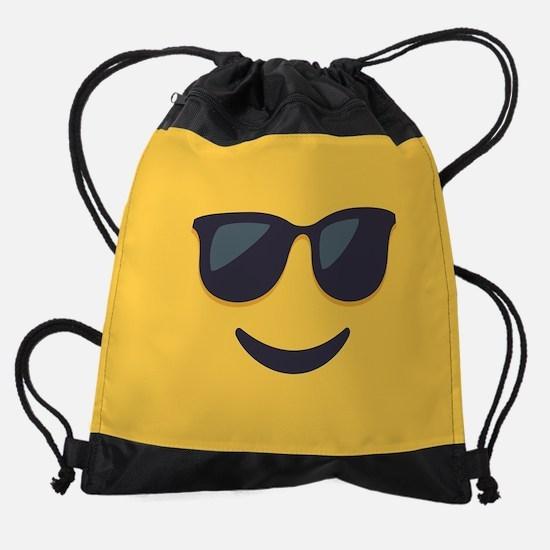 Sunglasses Emoji Face Drawstring Bag