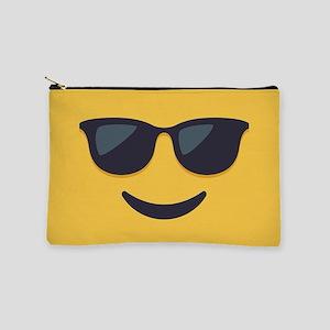 Sunglasses Emoji Face Makeup Pouch