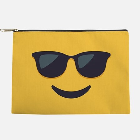 Sunglasses Emoji Face Makeup Bag