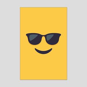 Sunglasses Emoji Face Mini Poster Print