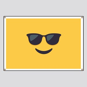 Sunglasses Emoji Face Banner