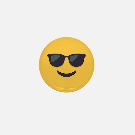 Sunglasses Emoji Face Mini Button