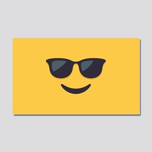 Sunglasses Emoji Face Car Magnet 20 x 12