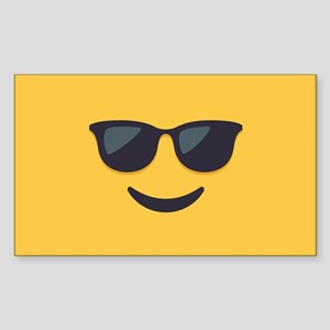 Sunglasses Emoji Face Sticker (Rectangle)