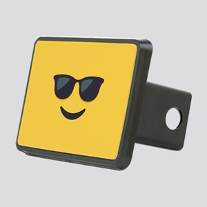 Sunglasses Emoji Face Rectangular Hitch Cover