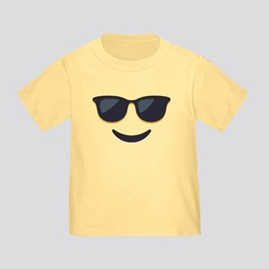 Sunglasses Emoji Face Toddler T-Shirt