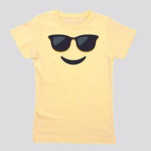 Sunglasses Emoji Face Girl's Tee