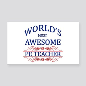 World's Most Awesome PE Teacher Rectangle Car Magn