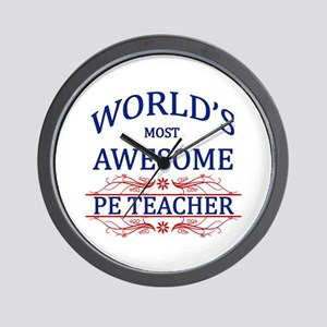 World's Most Awesome PE Teacher Wall Clock