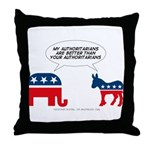 Authoritarians Throw Pillow