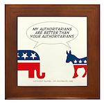 Authoritarians Framed Tile