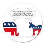 Authoritarians Round Car Magnet