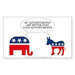 Authoritarians Sticker (Rectangle)