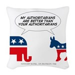 Authoritarians Woven Throw Pillow