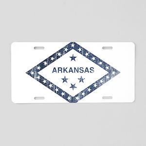 Vintage Arkansas State Flag Aluminum License Plate