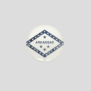 Vintage Arkansas State Flag Mini Button