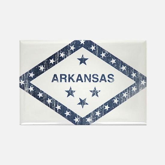 Vintage Arkansas State Flag Rectangle Magnet