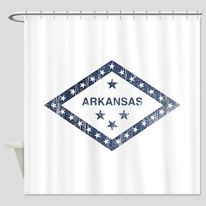 Vintage Arkansas State Flag Shower Curtain