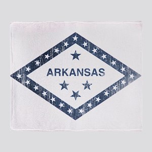 Vintage Arkansas State Flag Throw Blanket