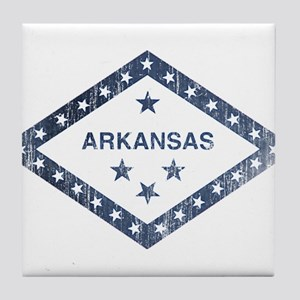 Vintage Arkansas State Flag Tile Coaster