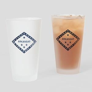 Vintage Arkansas State Flag Drinking Glass