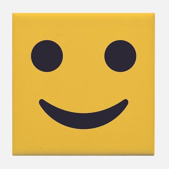 Smile Emoji Face Tile Coaster