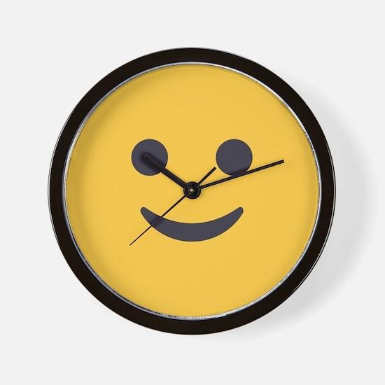 Smile Emoji Face Wall Clock